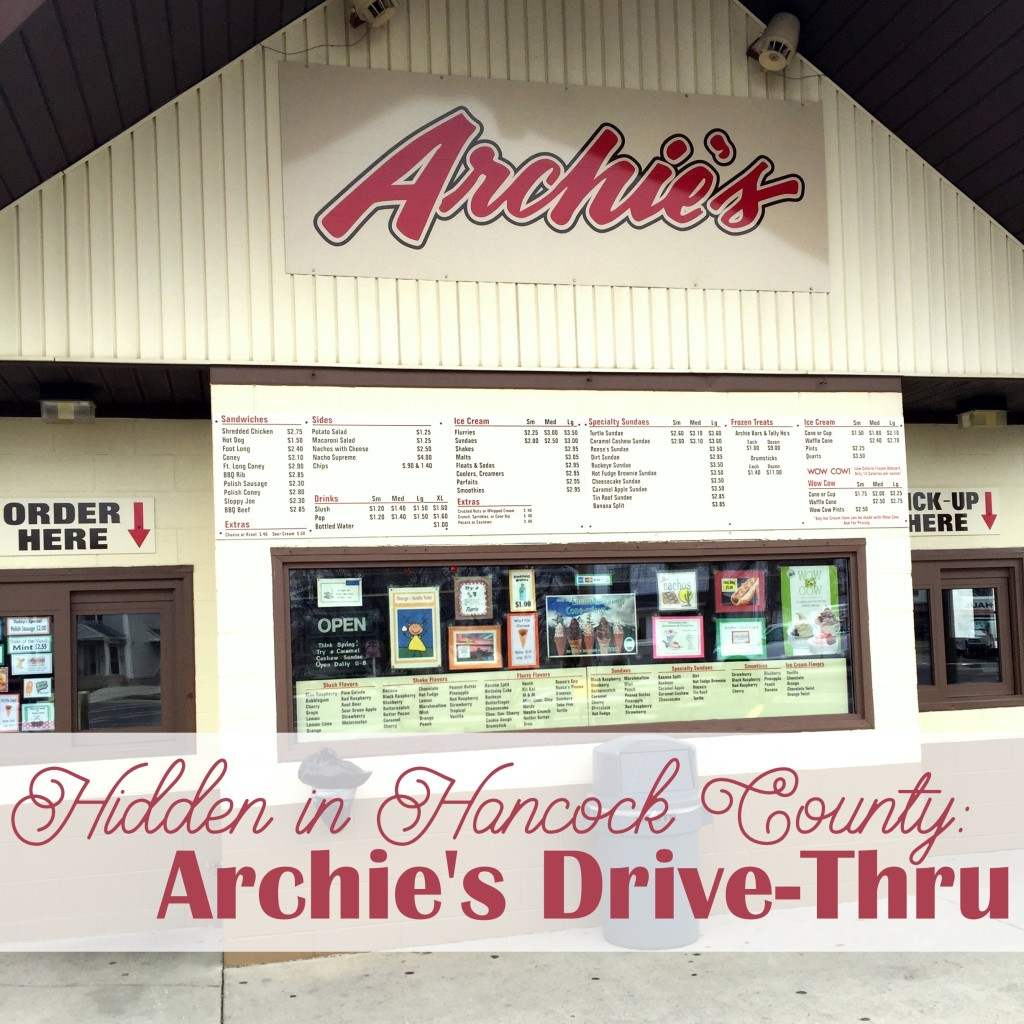 Looking for hidden gems in Hancock County?  Look no further than Archie's Drive-Thru in Findlay!  Great ice cream, shredded chicken sandwiches, coney dogs and more make Archie's a great warm-weather stop!  •  VisitFindlay.com